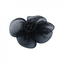 Fleur voile à coller/coudre noir