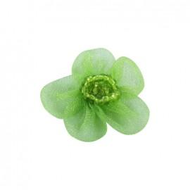 Fleur voile à coller/coudre vert