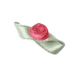 Butterfly Ribbon Flower to glue/to sew - ruby red