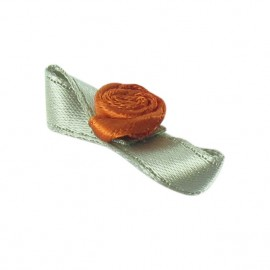 Butterfly Ribbon Flower to glue/to sew - copper