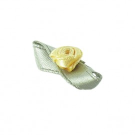 Butterfly Ribbon Flower to glue/to sew - lemon yellow