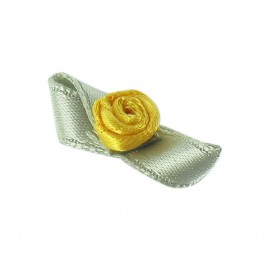 ♥ Fleur ruban papillon à coller/coudre moutarde ♥