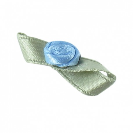 Butterfly Ribbon Flower to glue/to sew - steel blue