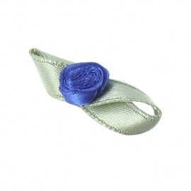 Butterfly Ribbon Flower to glue/to sew - denim blue