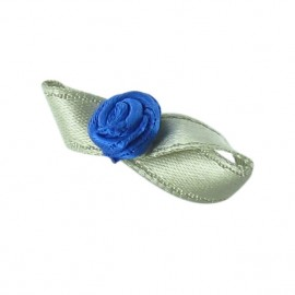 Butterfly Ribbon Flower to glue/to sew - blue