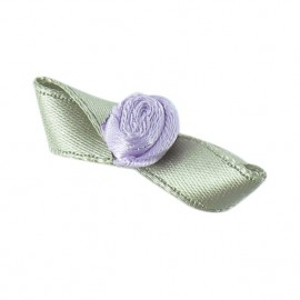 Butterfly Ribbon Flower to glue/to sew - mauve