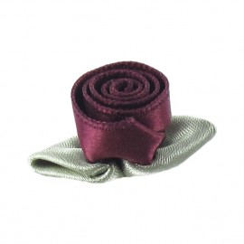 Rose Ribbon Flower to glue/to sew - crimson red
