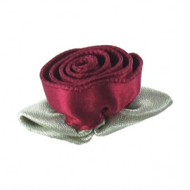 Rose Ribbon Flower to glue/to sew - carmine red