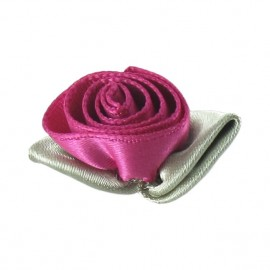 Rose Ribbon Flower to glue/to sew - fuchsia
