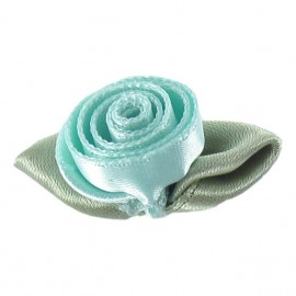 Rose Ribbon Flower to glue/to sew - opaline-colored