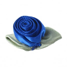 Rose Ribbon Flower to glue/to sew - blue