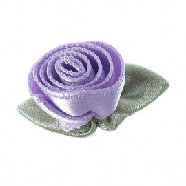 Rose Ribbon Flower to glue/to sew - mauve