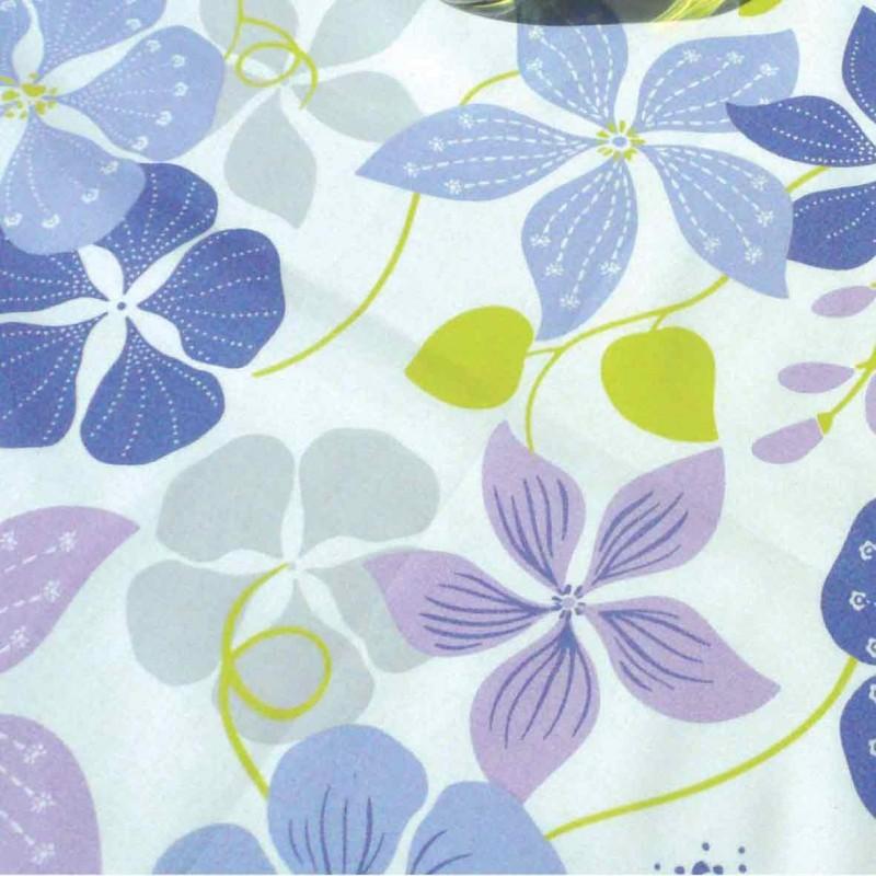 tissus pas cher imprim capucine bleue. Black Bedroom Furniture Sets. Home Design Ideas