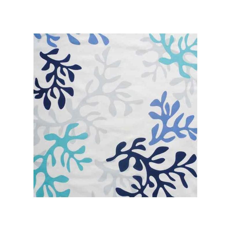 tissus pas cher imprim corail bleu. Black Bedroom Furniture Sets. Home Design Ideas