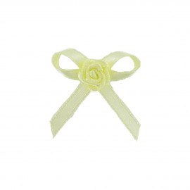 Ribbon Flower to glue/to sew - ecru