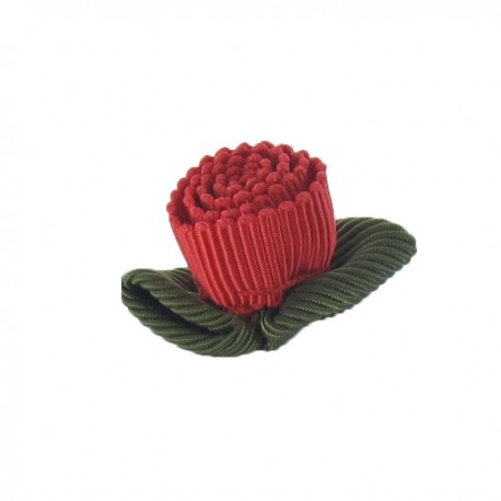 Ottomane Flower to glue/to sew - red