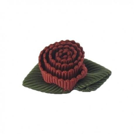 Ottomane Flower to glue/to sew - crimson red