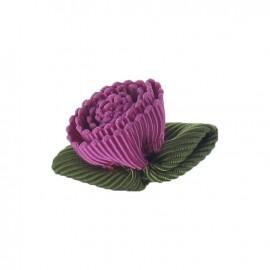 Fleur ottoman à coller/coudre fuchsia