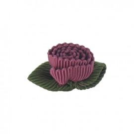Ottomane Flower to glue/to sew - plum