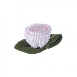 Fleur ottoman à coller/coudre rose dragée