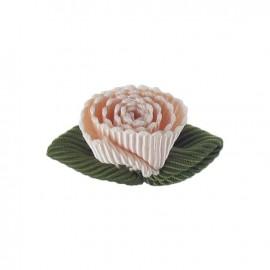 Fleur ottoman à coller/coudre rose pêche