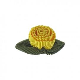 Fleur ottoman à coller/coudre jaune