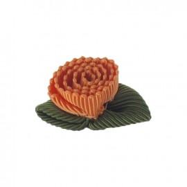 Fleur ottoman à coller/coudre orange