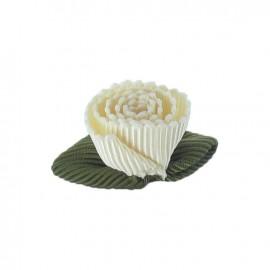 Fleur ottoman à coller/coudre blanc cassé