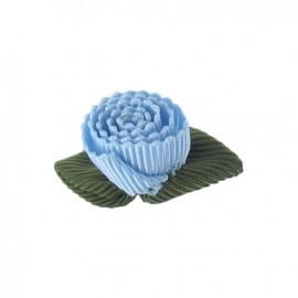 Fleur ottoman à coller/coudre gris bleuté