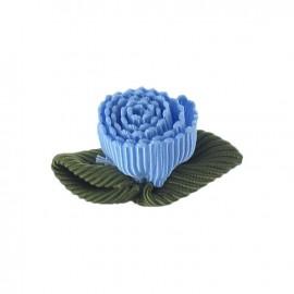 Fleur ottoman à coller/coudre bleu ciel