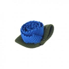 Fleur ottoman à coller/coudre bleu