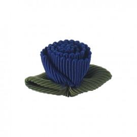 Fleur ottoman à coller/coudre bleu nuit