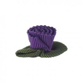 Fleur ottoman à coller/coudre violet