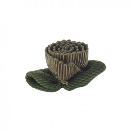 Ottomane Flower to glue/to sew - chestnut