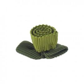 Fleur ottoman à coller/coudre vert anis