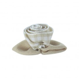 Gingham Flower to glue/to sew - beige/white