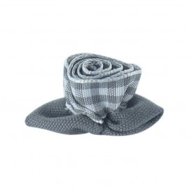 Fleur vichy à coller/coudre gris et blanc