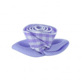 Gingham Flower to glue/to sew - mauve/white