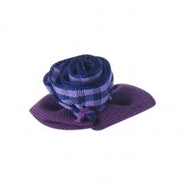 Fleur vichy à coller/coudre violet