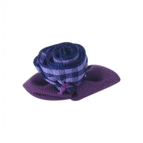 Gingham Flower to glue/to sew - purple