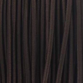 Fil élastique rond 2.5 mm marron
