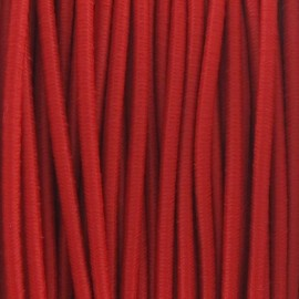 Rounded elastic thread 2,5 mm - red