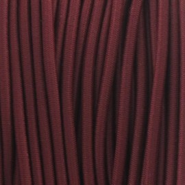 Rounded elastic thread 2,5 mm - crimson red