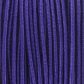 Rounded elastic thread 2,5 mm - purple