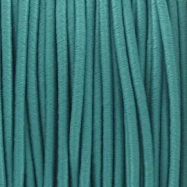 Fil élastique rond 2.5 mm turquoise
