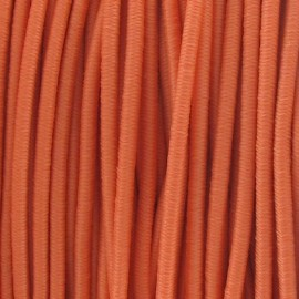 Rounded elastic thread 2,5 mm - mandarin