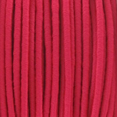 Rounded elastic thread 2,5 mm - fuchsia
