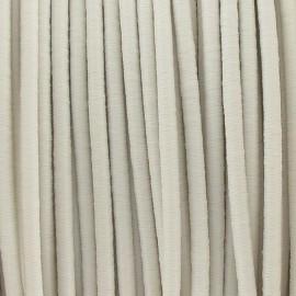 Fil élastique rond 2.5 mm écru