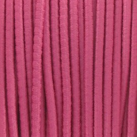 Rounded elastic thread 2,5 mm - pink