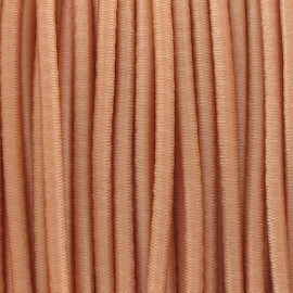 Rounded elastic thread 2,5 mm - flesh-colored